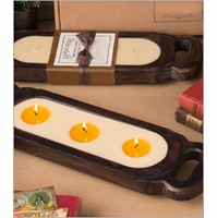 "NEW! - 19"" Wooden Candle Tray by Himalayan Candles"