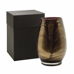"9"" Ebony Esque Polished Vase - Filled 