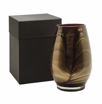 "9"" Ebony Esque Polished Vase - Filled"