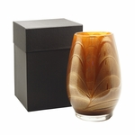 "9"" Mahogany Esque Polished Vase - Filled 