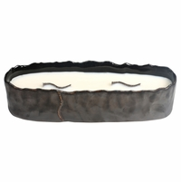NEW! -  Amber & Firelight Brownstone Large Rectangle RibbonWick Candle