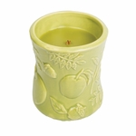 CLOSEOUT - Apple Basket Ceramic Hourglass WoodWick Candle | Discontinued & Seasonal WoodWick Items!