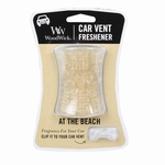 CLOSEOUT-At The Beach WoodWick Car Vent Freshener | Discontinued & Seasonal WoodWick Items!