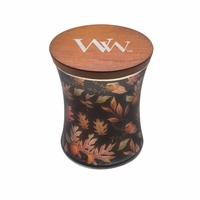 NEW! - Autumn Fall Comforts Hourglass WoodWick Candle with Lid