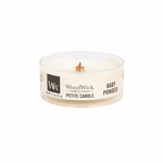 CLOSEOUT-Baby Powder Petite WoodWick Candle | Discontinued & Seasonal WoodWick Items!