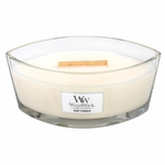 CLOSEOUT-Baby Powder WoodWick Candle 16 oz. HearthWick Flame | Discontinued & Seasonal WoodWick Items!