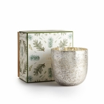 NEW! - Balsam & Cedar Luxe Sanded Mercury Glass Illume Candle | Holiday Collection by Illume Candles