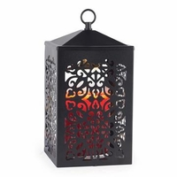 Black Scroll Candle Warmer Lantern