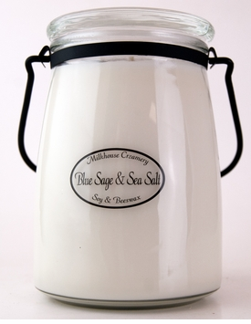 Blue Sage & Sea Salt 22 oz. Butter Jar Candle by Milkhouse Candle Creamery