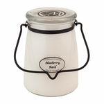 CLOSEOUT - Blueberry Basil 22 oz. Butter Jar Candle | Milkhouse Candle Creamery Closeouts
