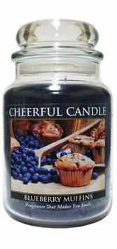 Blueberry Muffins 24 oz. Cheerful Candle by A Cheerful Giver