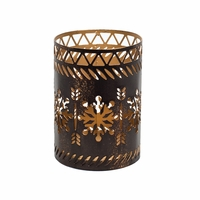 Bronze Snowflake Petite Holder WoodWick Candle