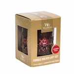 CLOSEOUT-Bronze Snowflake with Cinnamon Cheer Petite Gift Set WoodWick Candle | Discontinued & Seasonal WoodWick Items!