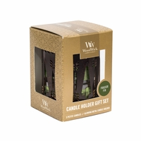 Bronze Trees with Frasier Fir Petite Gift Set WoodWick Candle