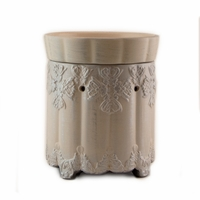 Brushed Platinum Ornate Radiant Fragrance Warmer