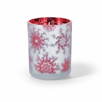 CLOSEOUT - Candy Cane 16 oz. Holiday Shimmer Glass Candle by Root