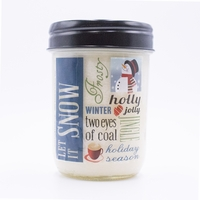 CLOSEOUT - Cherry Almond Buttercream 12 oz. Holiday Vintage Jar Swan Creek Candle (Label: Let It Snow)