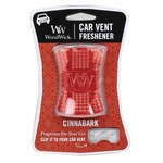 CLOSEOUT-Cinnabark WoodWick Car Vent Freshener | Discontinued & Seasonal WoodWick Items!