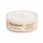 CLOSEOUT - Clothesline 1.4 oz. Sampler Candle Farm Grown Candle | Discontinued & Seasonal WoodWick Items!