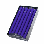"""CLOSEOUT - Cobalt 10"""" Unscented Classic Taper 12-Pack Colonial Candle 