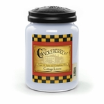 CLOSEOUT - Cottage Linens 26 oz. Large Jar Candleberry Candle | Candleberry Candle Closeouts