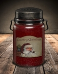 CLOSEOUT - Country Christmas 26 oz. McCall's Classic Jar Candle | McCall's Candles Closeouts