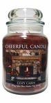 Cozy Cabin 24 oz. Cheerful Candle by A Cheerful Giver | Cheerful Candle 24 oz. Jars by A Cheerful Giver