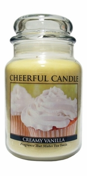 Creamy Vanilla 24 oz. Cheerful Candle by A Cheerful Giver