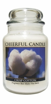 Crisp Cotton 24 oz. Cheerful Candle by A Cheerful Giver
