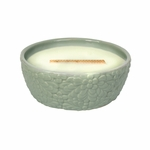 CLOSEOUT - ~Cucumber Melon Greenhouse Ceramic WoodWick Candle with HearthWick Flame | Discontinued & Seasonal WoodWick Items!