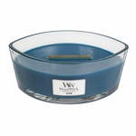 Denim WoodWick Candle 16 oz. HearthWick Flame | HearthWick Ellipse Glass Candles