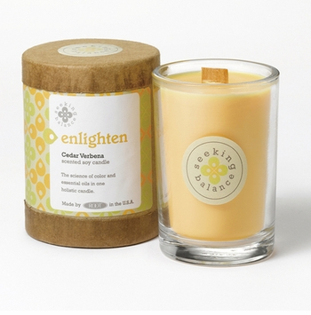 Enlighten (Cedar Verbena) Seeking Balance 6.5 oz. Candle by Root