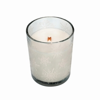 CLOSEOUT - Etched Tumbler Mint Truffle WoodWick Candle