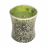 CLOSEOUT - NEW! - Evergreen Mosaic Hourglass WoodWick Candle