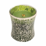 CLOSEOUT - NEW! - Evergreen Mosaic Hourglass WoodWick Candle | Discontinued & Seasonal WoodWick Items!