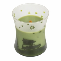 CLOSEOUT - NEW! - Evergreen Scenic Hourglass WoodWick Candle