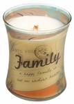 CLOSEOUT - Family Linen Inspirational Collection Hourglass WoodWick Candle | Discontinued & Seasonal WoodWick Items!