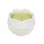 CLOSEOUT-Fern Figural Flower Ceramic WoodWick Candle | Discontinued & Seasonal WoodWick Items!