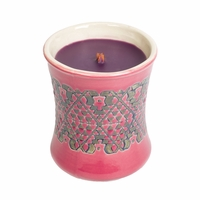 CLOSEOUT - Fig Ceramic Hourglass WoodWick Candle