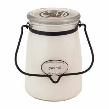 Fireside 22 oz. Butter Jar Candle by Milkhouse Candle Creamery