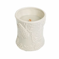 CLOSEOUT - Fireside Ceramic Hourglass WoodWick Candle