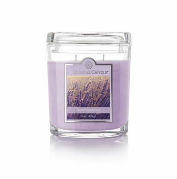 French Lavender 8 oz. Oval Jar Colonial Candle