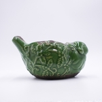 NEW! - Fresh-Cut Christmas Tree Holiday Pottery Bird Swan Creek Candle (Color: Green) | Swan Creek Bird Pottery Candles