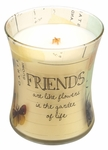 CLOSEOUT - Friends Linen Inspirational Collection Hourglass WoodWick Candle | Discontinued & Seasonal WoodWick Items!