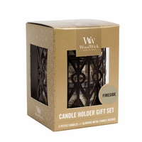 Geometric Fireside Petite Gift Set WoodWick Candle