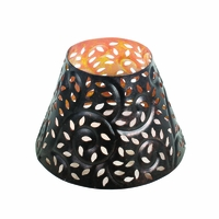 CLOSEOUT-Glowing Leaf Shade for 10 oz. WoodWick Candle