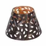 CLOSEOUT-Glowing Leaf Shade for 3.4 oz. WoodWick Candle | Discontinued & Seasonal WoodWick Items!