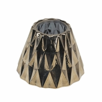 Gold Geometric Glass Shade for 10 oz. WoodWick Candle