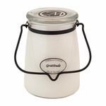 Gratitude 22 oz. Butter Jar Candle by Milkhouse Candle Creamery | 22 oz. Butter Jar Candles by Milkhouse Candle Creamery