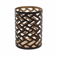 Herringbone Petite Holder WoodWick Candle
